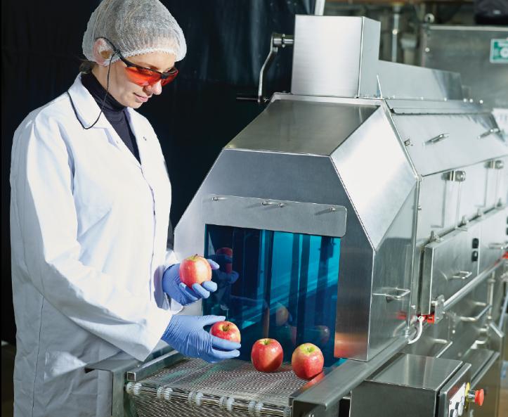 UV-C technológia alkalmazása az élelmiszeriparban
