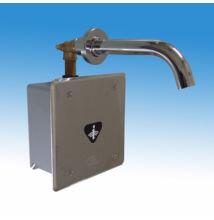 Falbaépíthető infrás csaptelep hideg, vagy kevert vízre, frontcsavarozású előlappal, doboz feletti csapkifolyóval, 230 V