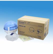 Germstar falra szerelhető, infrás kézfertőtlenítőszer adagoló induló szett, műanyag, kék-fehér (adagoló+946 ml-es utántö