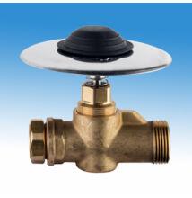 MCM Padlóba süllyeszthető időzített nyomógombos lábkapcsoló WC öblíréséhez, kevert vízre (5±3 mp)