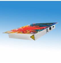 Falikép kialakítású UV-C levegő fertőtlenítő berendezés, 60 m3 hatóterülettel, 4x18 W-os fénycsővel, festett alum