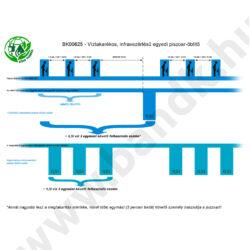BK00625000000002 - Víztakarékos infrás egyedi piszoár-öblítő rejtett csavarozású előlappal, 230V AC