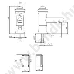 BKH3561351 - Idral KIDS infrás mosdó csaptelep hideg vagy kevert vízre, 6 V-os elemes