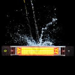 ML728 - Moel PETALO infra hősugárzó, függeszthető kivitelben, 1800 W-os, 830x38x120mm 6-8 m2; 230 V, láncos függesztéssel