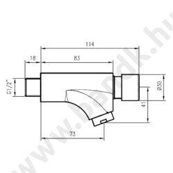 QK235I - Idral időzített, nyomógombos falra szerelhető (rövid) csaptelep, kevert vízre (15±3 mp)