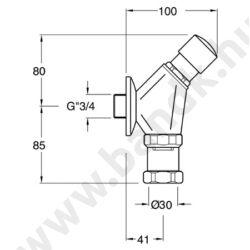 QK800 - Silfra Időzített, nyomógombos falon kívül szerelt  WC-öblítő szelep (7±3 mp)
