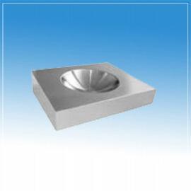Rozsdamentes mosdó mozgáskorlátozottak részére, csaplyukkal, 600x500x160 mm