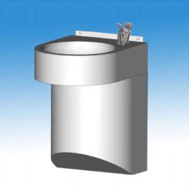 Falra szerelhető rozsdamentes ivókút I5261M típusú nyomógombos fejjel, szifontakaróval