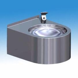 Falra szerelhető rozsdamentes ivókút I5261M típusú nyomógombos fejjel, 180 mm-es takaró szoknyával