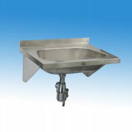 Falra szerelhető mélyhúzott medencés kézmosó csaptelep és csaplyuk nélkül (konzollal, szifonnal; 450x320 mm)