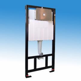 Falba építhető szerelőkeretes WC tartály, pneumatikus működtetéssel