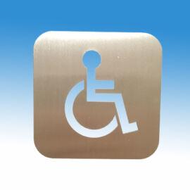 Akadálymentesítet WC piktogram szálcsiszolt rozsdamentes acélból