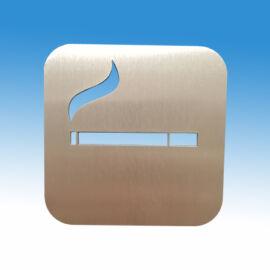 Dohányzásra kijelölt hely piktogram, szálcsiszolt rozsdamentes acélból