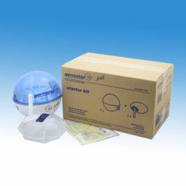 Germstar falra szerelhető, infrás kézfertőtlenítőszer adagoló induló szett, műanyag, kék-fehér (+946 ml-es utántöltő)