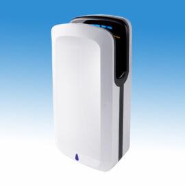 Airblade kézbedugós nagysebességű, alacsony hőmérsékletű infra kézszárító gép, fehér ABS burkolattal (1850W), 360 Km/h l