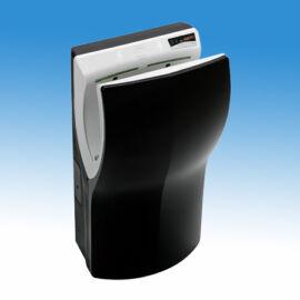 Mediclinics Dualflow Plus kézbedugós nagysebességű, alacsony hőmérsékletű infra kézszárító gép, fekete ABS burkolattal (