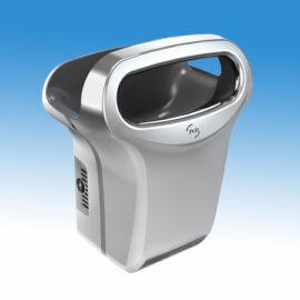 Kézbedugós, nagysebességű, alacsony hőmérsékletű infra kézszárító, krómozott alumínium burkolattal,  (1200 W, 600 km/h)