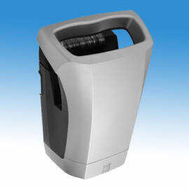 Kézbedugós, nagysebességű, alacsony hőmérsékletű infrás kézszárító gép, ABS burkolattal,  (1200 W, 600 km/h), szürke, sz