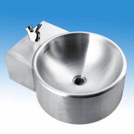 Falra szerelhető rozsdamentes ivókút I5261M típusú nyomógombos ivókút csapteleppel, leeresztőszeleppel, szifonnal