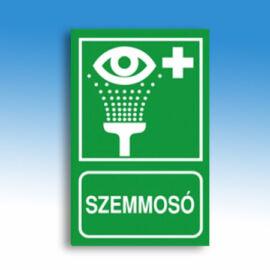 Szemmosó jelző tábla (felirat+piktogram), kasírozott PVC, 160x250x1 mm, utánvilágító