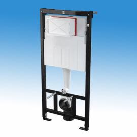 Alcaplast falba építhető keretes WC tartály, 2 mennyiségű nyomólaphoz