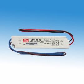 Hálózati tápegység 230V AC/12V DC/18W, IP67