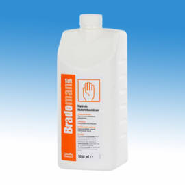 Bradoman Soft alkoholos kézfertőtlenítőszer 1l-es kiszerelésben, baktericid, virucid, tuberkulocid, fungicid