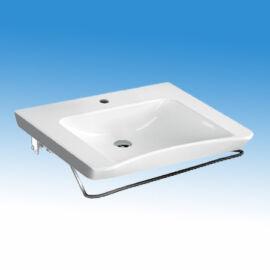 Porcelán mosdó mozgáskorlátozott felhasználók részére, pneumatikus döntőberendezéssel 675x575 mm