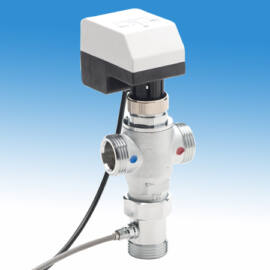 """Thermomat Elektronikus keverőszelep legionella elleni kapcsolású rendszerekhez 1""""-os, max. 85 °C"""