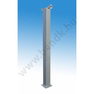 Kétfejes szabadtéri zuhanyoszlop (150x150) egyedi termokeverővel, időzített, nyomógombos működtetéssel