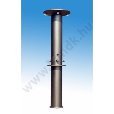 Négyfejes szabadtéri zuhanyoszlop (henger) egyedi termokeverővel, időzített, nyomógombos működtetéssel