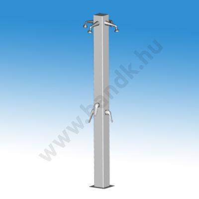 Négykaros szabadtéri zuhanyoszlop (150x150) keverőkaros csapteleppel