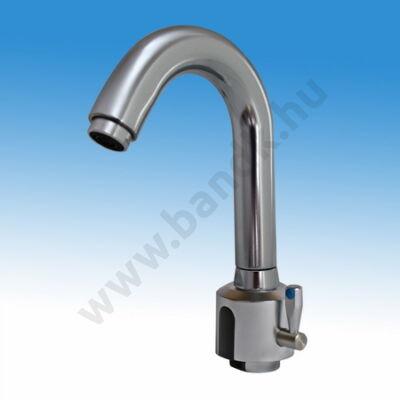 GREEN álló, víztakarékos, keverőkaros, infrás mosdó csaptelep, hideg és meleg vízre, szűrős sarokszeleppel, flexibilis b
