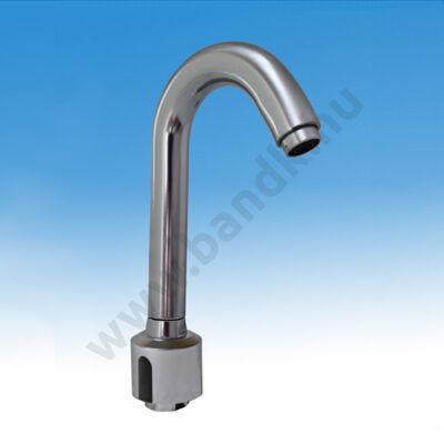 Álló, infrás töltő mosogató csaptelep, hideg, vagy kevert vízre, szűrős sarokszeleppel, flexibilis bekötöcsővel, elektro