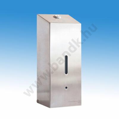 Falra szerelhető elektromos folyékonyszappan adagoló, függőleges kivitelű, rozsdamentes acél, 0,8 l