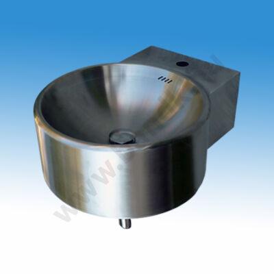 Rozsdamentes fali mosdó köténylemezzel, 530x426x185 mm, szifonnal, leeresztőszeleppel