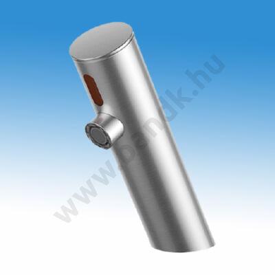 WEST infrás mosdócsap hideg vagy kevert vízre, 6 V DC elemes/230V AC tápegységgel, matt-rozsdamentes