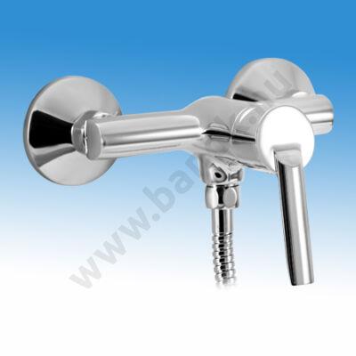 MOFÉM MAMBO-5 egykaros fali zuhany csaptelep zuhanyszettel, krómozott