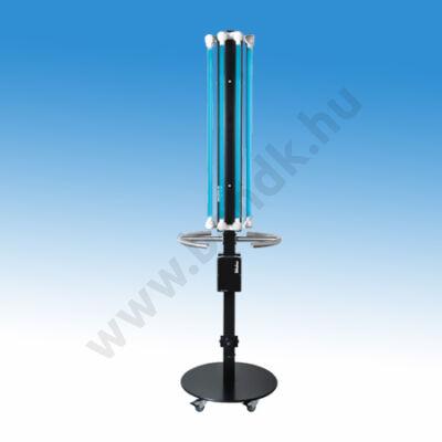 Mobil UV-C levegő fertőtlenítő berendezés, 8x30 W-os fénycsővel, festett alumínium