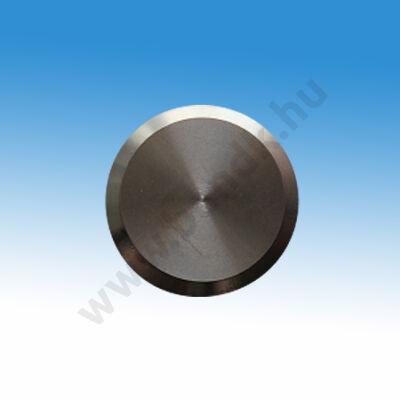 Taktilis útburkolati figyelmeztető elem vakok és gyengénlátók számára, D 30x5 mm, rozsdamentes acélból, síma felülettel
