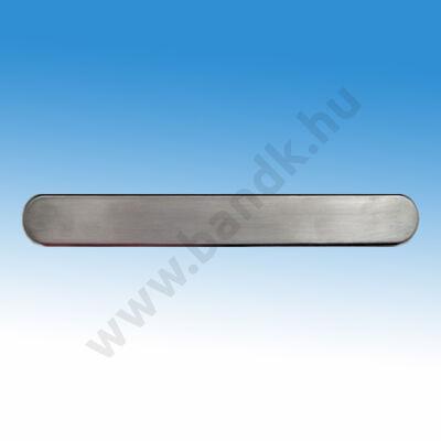 Taktilis útburkolati vezető sáv vakok és gyengénlátók számára, 30x280x3,7 mm, rozsdamentes acélból, síma felülettel