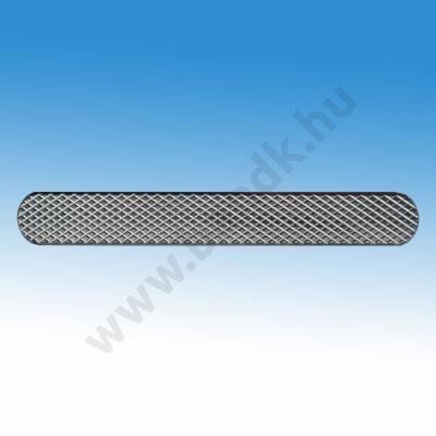 Taktilis útburkolati vezető sáv vakok és gyengénlátók számára, 30x280x4,7 mm, rozsdamentes acélból, mintás felülettel