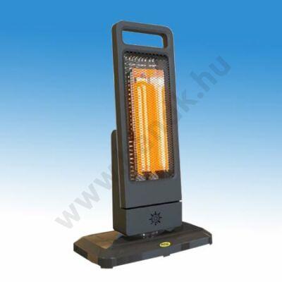 Moel GUADALUPE infrafűtő berendezés, rubin, álló kivitel, 1200 W-os, 230 V, távirányítóval