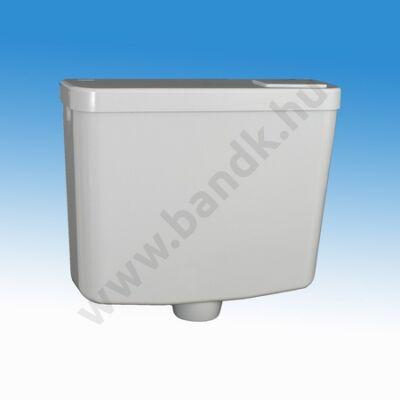 Falon kívül/fal mögé alacsonyan szerelhető  hidro-pneumatikus WC-öblítőtartály, nyomáscsökkentővel, vezérlés nélkül