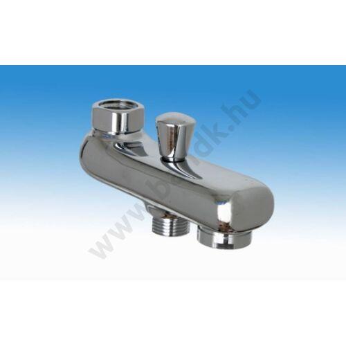 Kifolyócső (kádtöltő) falon kívüli termosztatikus keverős zuhanycsaptelephez