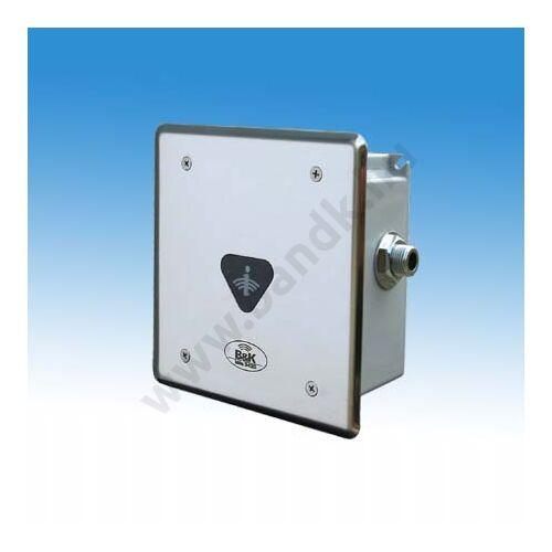 Infrás szelepegység ivókúthoz, frontcsavarozású előlappal, 150 mm-es műanyag dobozban, 230V AC tápegységgel