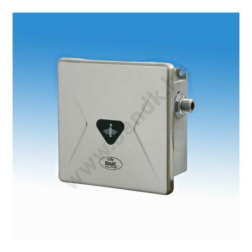 Infrás szelepegység ivókúthoz, rejtett csavarozású előlappal, 150 mm-es műanyag dobozban, 230V AC