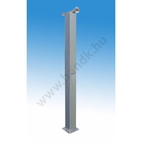 Kétfejes szabadtéri zuhanyoszlop (150x150) kevert vízre, időzített, nyomógombos működtetéssel