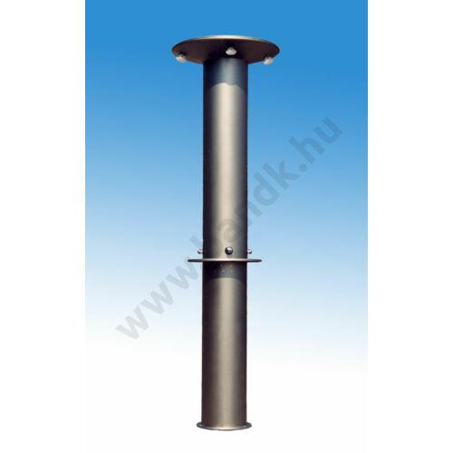 Háromfejes szabadtéri zuhanyoszlop (henger) kevert vízre, időzített, nyomógombos működtetéssel