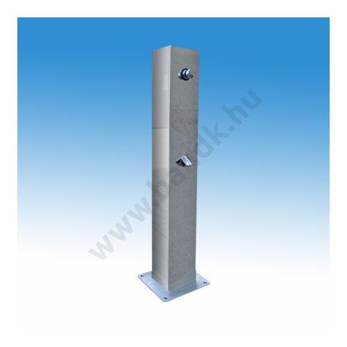 R.m. lábonálló lábzuhany ,nyomógombos működésű, egy zuhanyfejjel, alapozókerettel,(150x150)